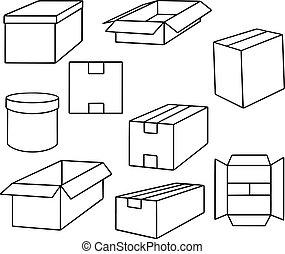 vector set of box