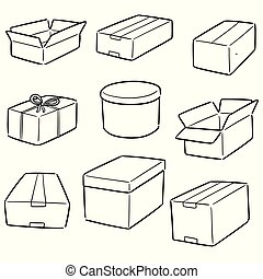 vector set of boxes