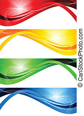 Vector set of bright banners