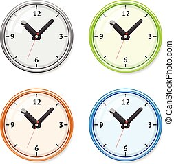 Vector Set of bright clock