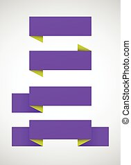 Vector set of bright purple banners