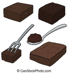 vector set of brownie