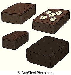 vector set of brownie