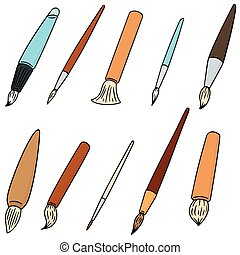 vector set of brush