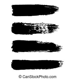Vector set of brush strokes. - Vector set of grunge brush...