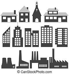 buildings - vector set of buildings