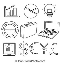 vector set of business icon