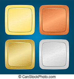 Vector set of buttons.