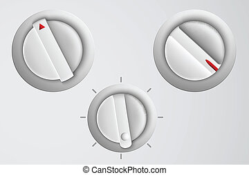 vector set of buttons, volume control