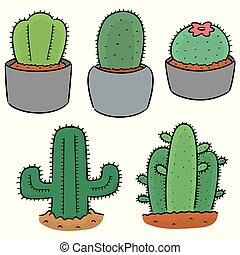 vector set of cactus