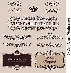 Vector Set of Calligraphic Design