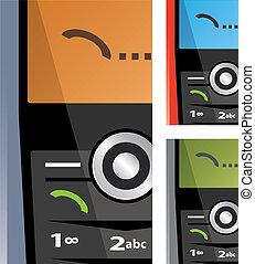 vector set of calling phones