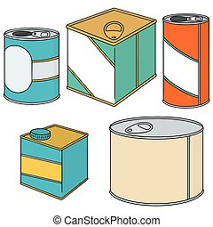 vector set of can