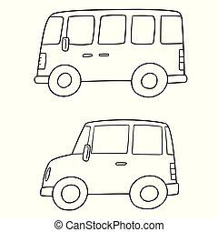 vector set of car