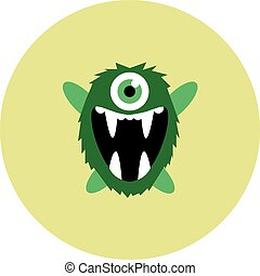Vector set of cartoon cute monsters and aliens.