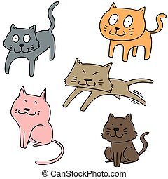 vector set of cat