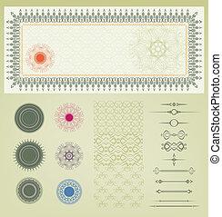 vector set of certificate decorati - vintage set of element...