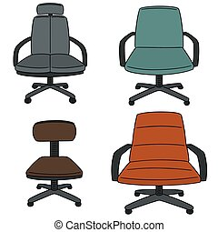vector set of chair