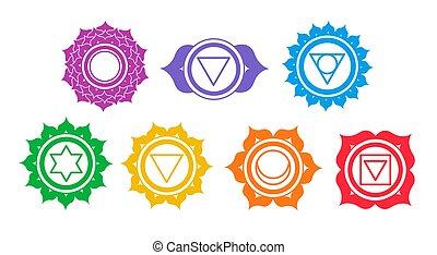 Vector set of chakra symbols