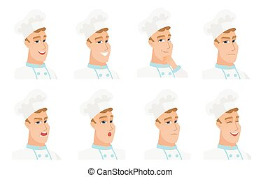 Vector set of chef-cooker characters.