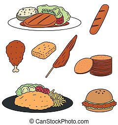 vector set of chicken product