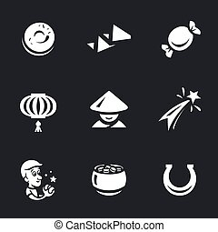 Vector Set of Chinese cookies.