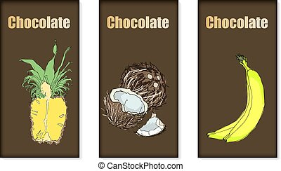 Vector Set Of Chocolate Bar Package