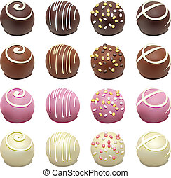 vector set of chocolate candies