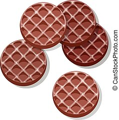 vector set of chocolate cookies