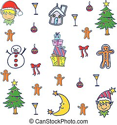 Vector set of christmas element