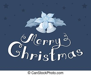 Vector set of christmas text and decorative