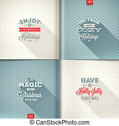 Vector set of Christmas type design