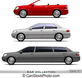 Vector set of classic cars