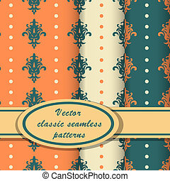Vector set of classic patterns