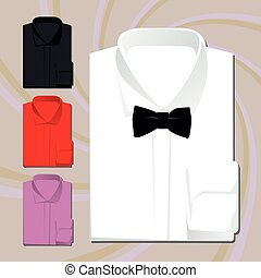Vector set of classic shirts
