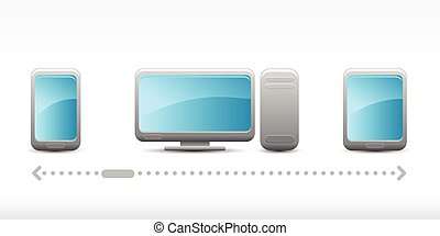 Vector set of cloud computing icons