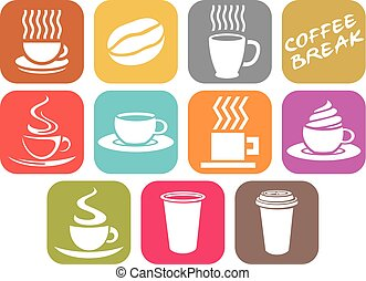 vector set of coffee design icons