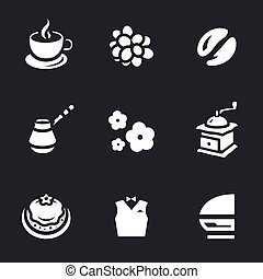 Vector Set of Coffee Icons.