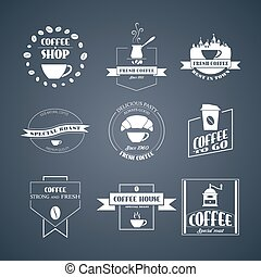 Vector set of coffee logos,