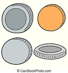 vector set of coins