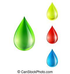 vector set of colored drops