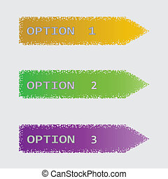 Vector set of colored ribbons