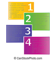 Vector set of colored ribbons .