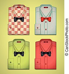 Vector set of colored shirts