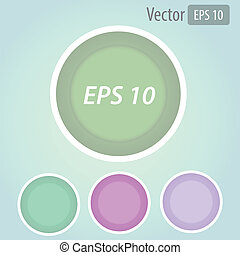 Vector set of colorful 3d buttons