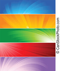Vector set of colorful baners; clip-art