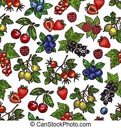 Vector set of colorful berries