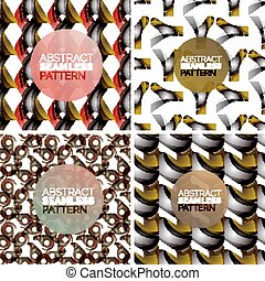 Vector set of colorful seamless geometric patterns. Modern stylish abstract textures