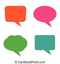 vector set of colorful speech bubbles on white background