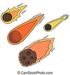 vector set of comet